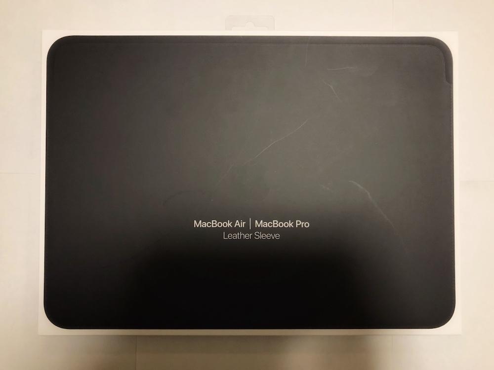 13インチMacBook AirとMacBook Pro用レザースリーブ - 外箱